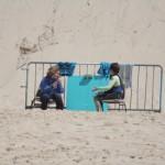 Les beach marshalls improvisés !