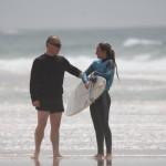 Anouk Duboe, Lacanau Surf Club et son coach Charly Henno.