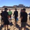 Dernier briefing avant le test de sauvetage aquatique