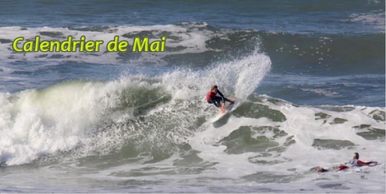 Calendrier surf mai