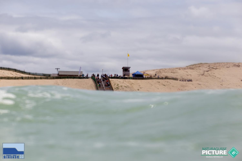 Site de compétition vu de l'eau.