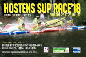 Hostens SUP race - GIRONDE SUP TOUR 2018