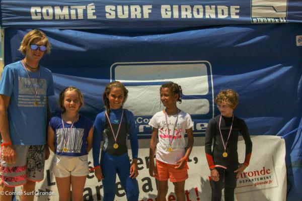 Lacanau, vainqueur de cette édition, avec coach Nawlan, Antonin, Myriam, Maia et Estelle !