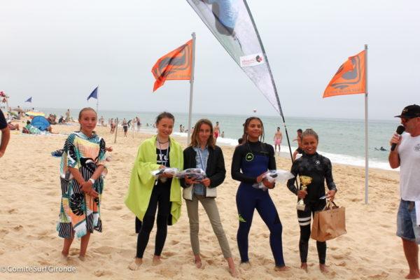 Kid's Surf Angel's avec Louise Perron (COSC) à droite.