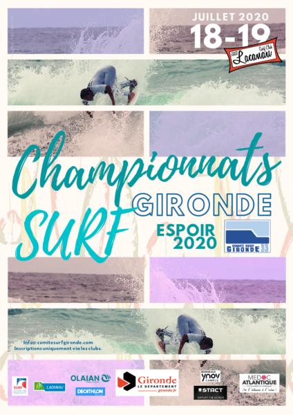 Championnat departemental espoir de surf 2020