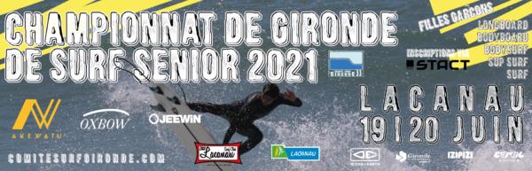 Championnats de Gironde Surf Senior 2021